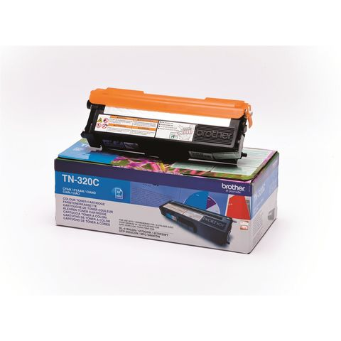 Original Toner BROTHER TN-320C, 1.500 Seiten, OVP