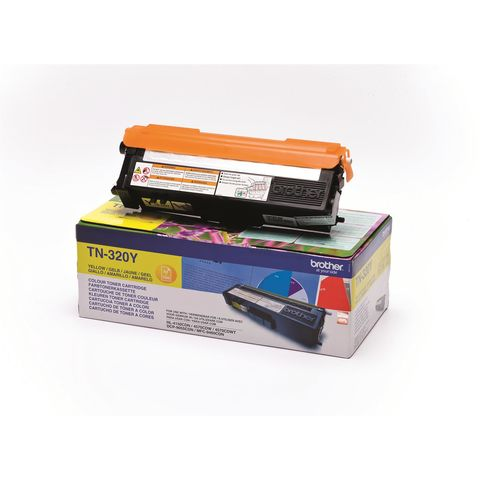 Original Toner BROTHER TN-320Y, 1.500 Seiten, OVP